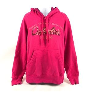 Cabela's Game-Day Full-Zip Hoodie Hot Pink L